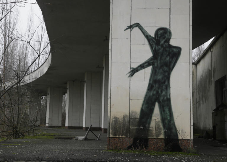 A  view of an underpass in the deserted town of Pripyat near the closed Chernobyl nuclear power plant  Ukraine Tuesday, Nov. 27, 2012. Workers on Tuesday  raised the first section of a colossal arch-shaped structure that is eventually to cover the exploded reactor at the Chernobyl nuclear power station. Project officials on Tuesday hailed the raising as a significant step in a complex effort to liquidate the consequences of the world's worst nuclear accident, in 1986. (AP Photo/Efrem Lukatsky)