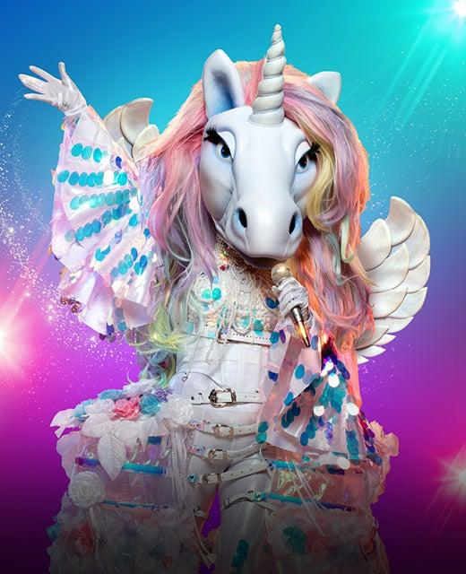 The Unicorn on The Masked Singer Australia 2019. Photo: Channel 10