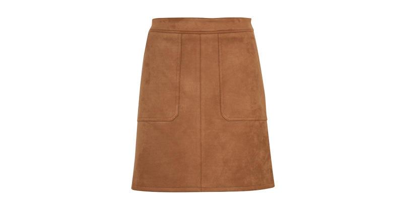 Suedette Mini A-Line Skirt