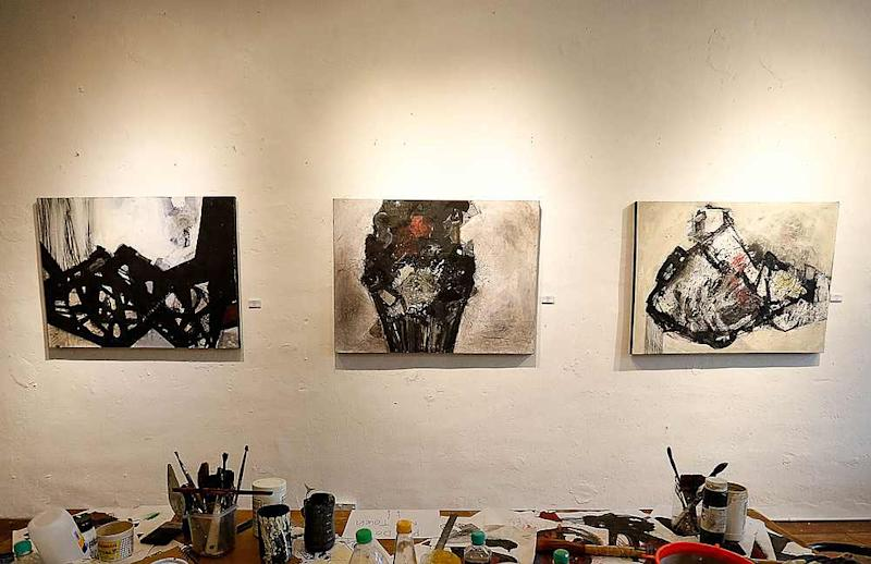 Shasheet's work is influenced by his fascination with Chinese paintings in their use of bold, black strokes. — Picture by Sayuti Zainudin