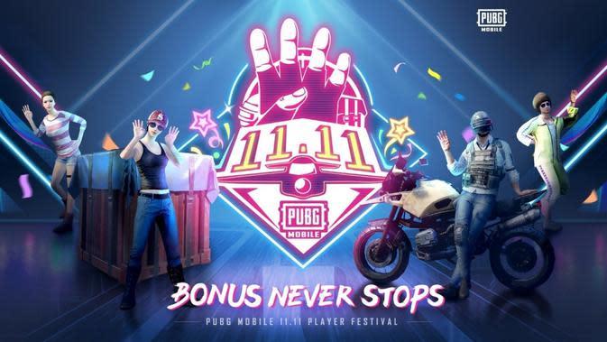 PUBG Mobile resmi meluncurkan program 11.11 dalam rangka ikut menyemarakan Hari Belanja Online Nasional 11.11. (Foto: PUBG Mobile)