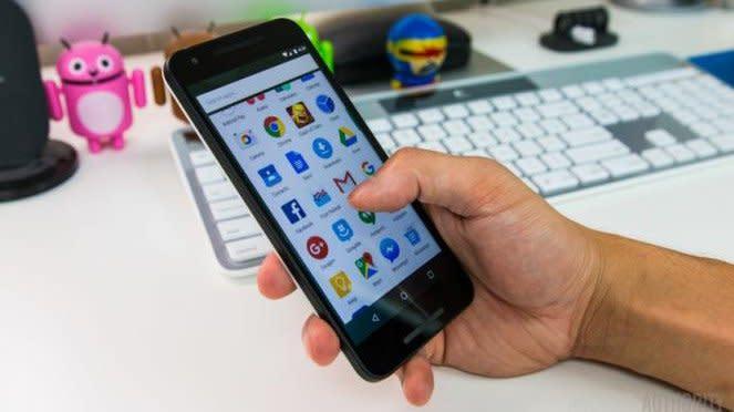 Ilustrasi smartphone Android.