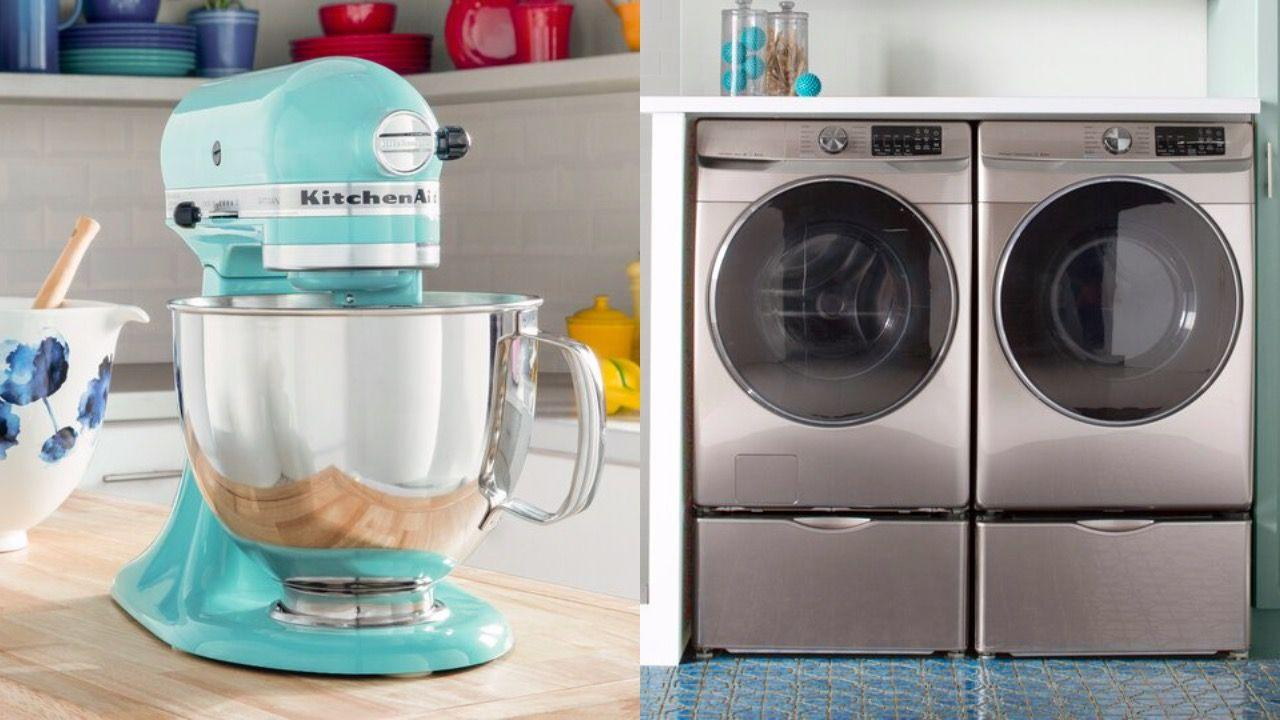 """<p>If you're looking for new <a href=""""https://www.housebeautiful.com/shopping/home-gadgets/g22826031/smart-kitchen-appliances/"""" target=""""_blank"""">appliances</a>, you're in luck: <a href=""""https://www.housebeautiful.com/shopping/best-stores/a22840426/wayfair-black-friday-deals/"""" target=""""_blank"""">Wayfair</a> is having a <a href=""""https://www.wayfair.com/daily-sales/major-appliance-deals"""" target=""""_blank"""">huge appliance sale</a> right now with savings of up to 60 percent. You can score major savings on big ticket items and small appliances, including <a href=""""https://www.wayfair.com/appliances/pdp/samsung-45-cu-ft-front-load-washer-and-75-cu-ft-electric-dryer-smsg1181.html?piid=43444496"""" target=""""_blank"""">washers and dryers</a>, ovens, dishwashers, heaters, and more. The sale ends on Wednesday, October 21, but make sure to checkout ASAP because popular appliances are already selling out. To help get you started, we rounded up the best deals, from must-have stand mixers to smart refrigerators. </p>"""
