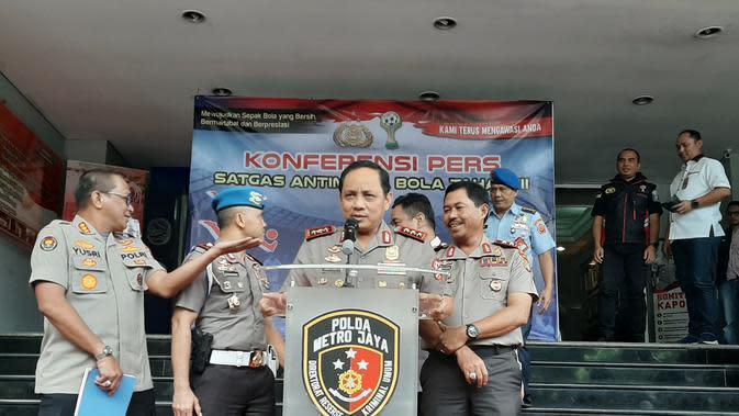 Wakapolri Komjen Pol Gatot Eddy Pramono memberikan arahan kepada Satuan Tugas Anti Mafia Bola Jilid III, Selasa (11/2/2020)(Liputan6.com/ Ady Anugrahadi)