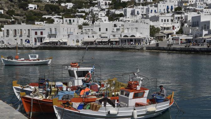 Mykonos, Yunani (LOUISA GOULIAMAKI / AFP)