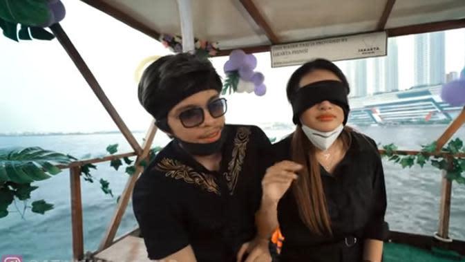 Aurel Hermansyah dan Atta Halilintar. (Youtube/Atta Halilintar)