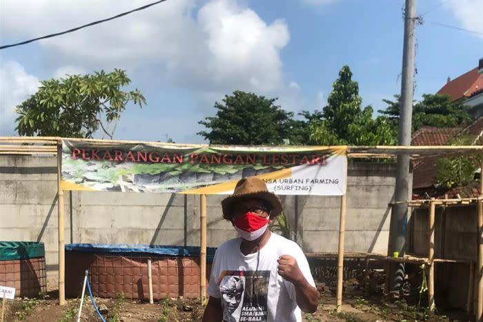 I Gede Dedi Kusuma yang menggerakkan pekarangan pangan lestari di Denpasar (Bali).