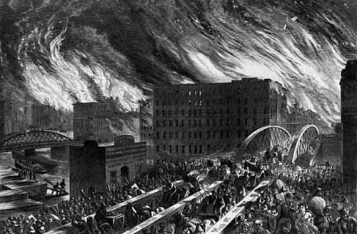 Oct. 8, 1871: Great Chicago Fire starts
