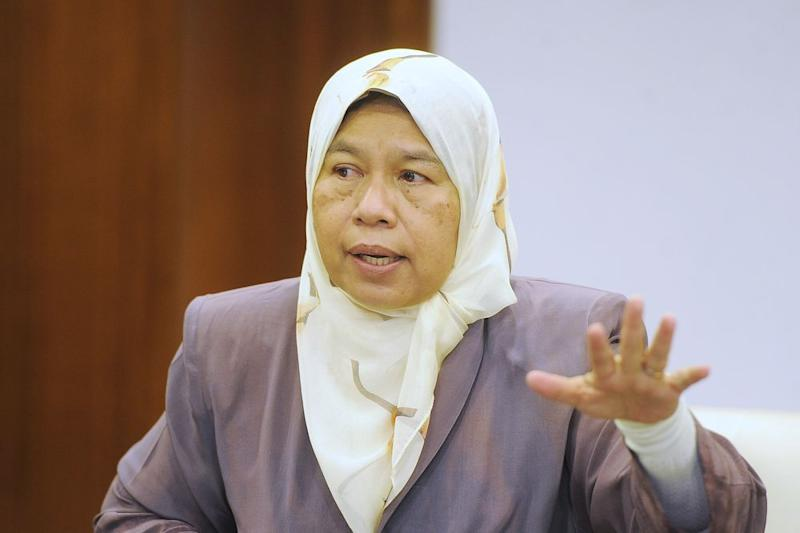 Zuraida noted Utusan Malaysia never contacted her for confirmation before publication. — Picture by Shafwan Zaidon