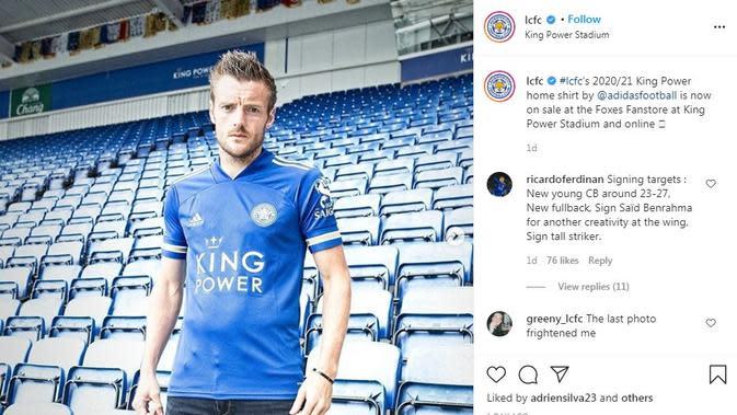 Seragam Leicester City. (Instagram)
