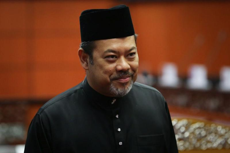 Datuk Ahmad Masrizal Muhammad is pictured at Dewan Negara after being sworn in as senator March 10, 2020. — Picture by Yusof Mat Isa