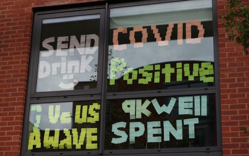 'Send drink': Students have been quarantined at Manchester Metropolitan University - Peter Byrne/PA