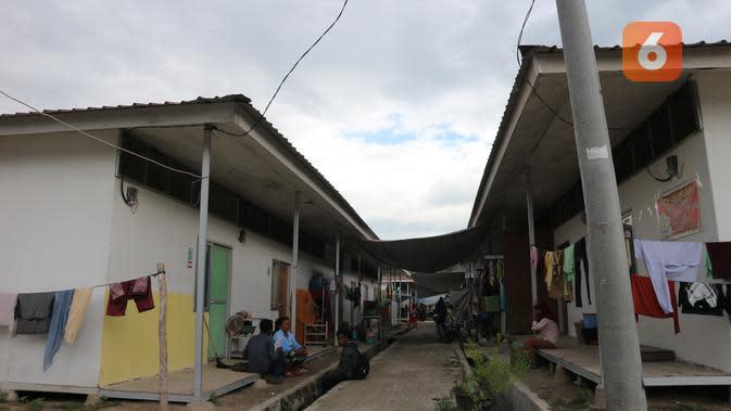 Lokasi hunian sementara di sebelah timur Desa Bangga yang jadi tempat tinggal bagi warga dusun 1 dan 2 yang terdampak bencana. (Foto: Liputan6.com/ Heri Susanto).