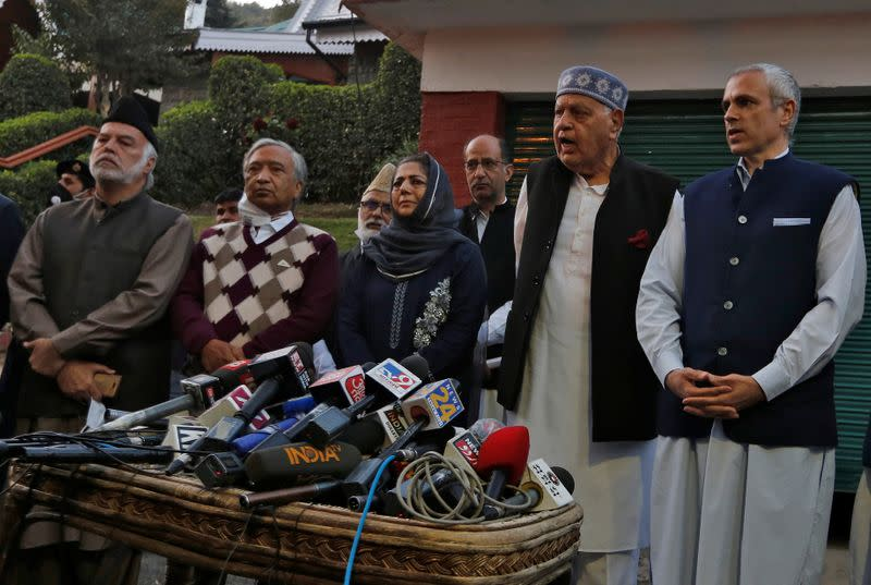 Major parties in Kashmir unite to fight for return of autonomy