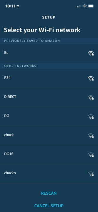 how to connect alexa wi fi amazon iphone select network