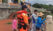 米克拉海陸警齊發 墾丁海邊插紅旗淨空遊客