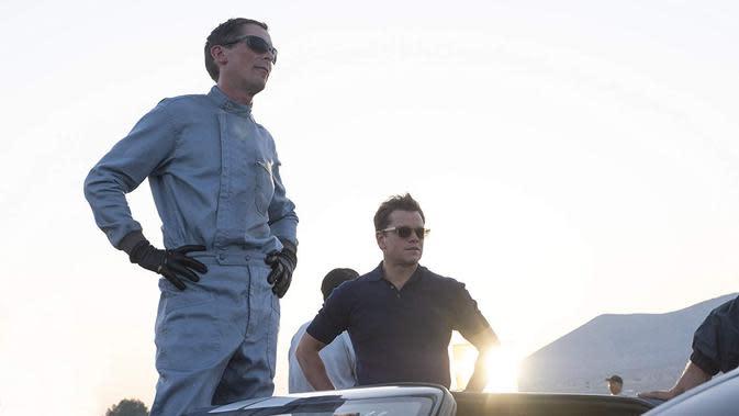 Suasana lokasi syuting Ford V Ferrari. (Foto: Dok. IMDb/ 20th Century Fox)