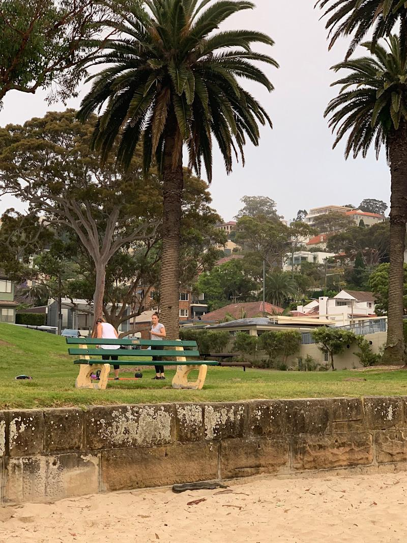 The snake was spotted by two council workers (not pictured) at Balmoral Beach on Monday. Source: Facebook/Living Mosman