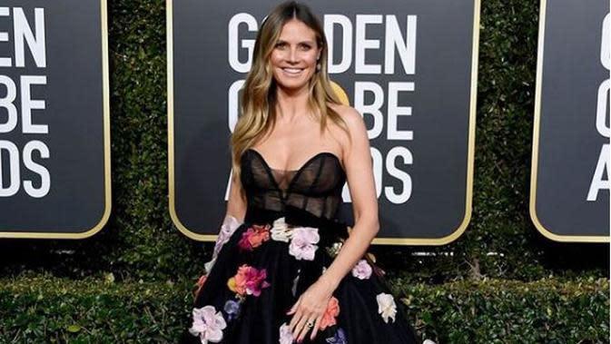 Heidi Klum memakai naked dress di red carpet Golden Globes (Instagram @heidiklum)