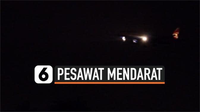 VIDEO: Menegangkan, Pesawat Mendarat di Tengah Badai Brendan