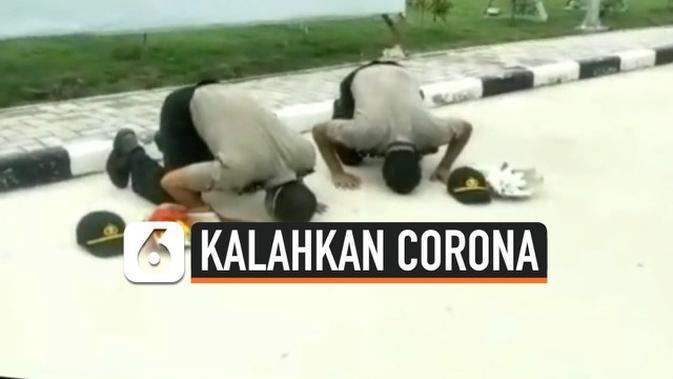VIDEO: Bunga dan Sujud Syukur 2 Polisi Usai Kalahkan Corona