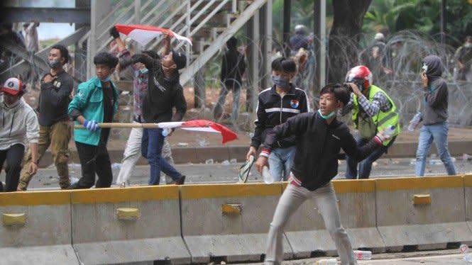 Temuan Ini Buat Polisi Curiga Pelajar Difasilitasi Demo Omnibus Law