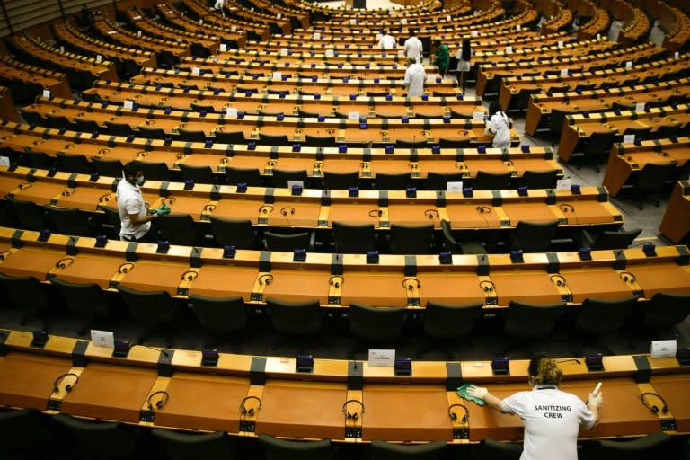 EU chief Ursula von der Leyen will first deliver the post-virus recovery plan to the European Parliament