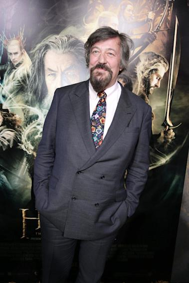 Stephen Fry seen at New Line Cinema Premiere of 'The Hobbit: The Desolation of Smaug', held at the Dolby Theatre on Monday, Dec. 2, 2013 in Los Angeles. (Photo by Eric Charbonneau/Invision for Warner Bros./AP Images)