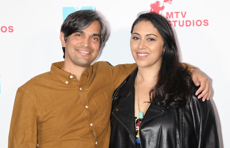 NEW YORK, NEW YORK - SEPTEMBER 26: Sami Khan and producer Smriti Mundhra attend the MTV Documentary Films Launch at Walter Reade Theater on September 26, 2019 in New York City. (Photo by Jim Spellman/Getty Images)