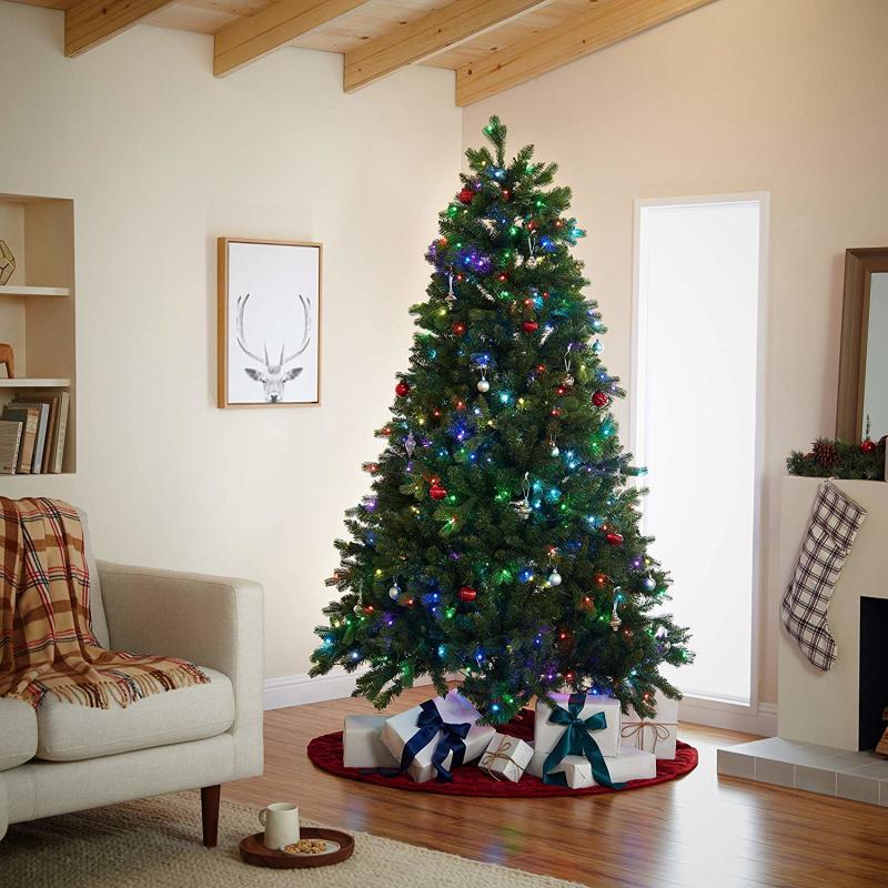 Mr. Christmas 7' Alexa Compatible RGB LED Christmas Tree. (Photo: Amazon)