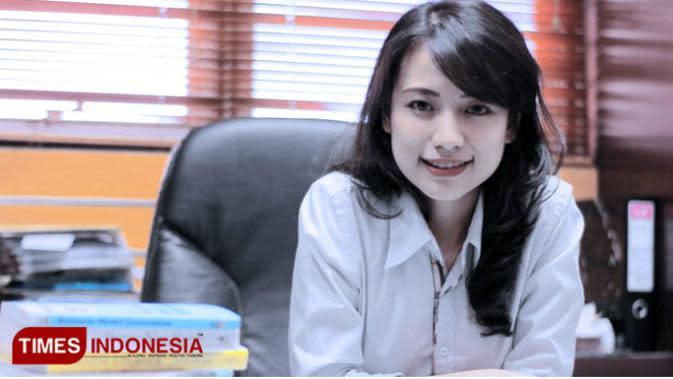 Risa Santoso, Rektor Institut Teknologi dan Bisnis ASIA Malang. (Times Indonesia/Widya Amalia)