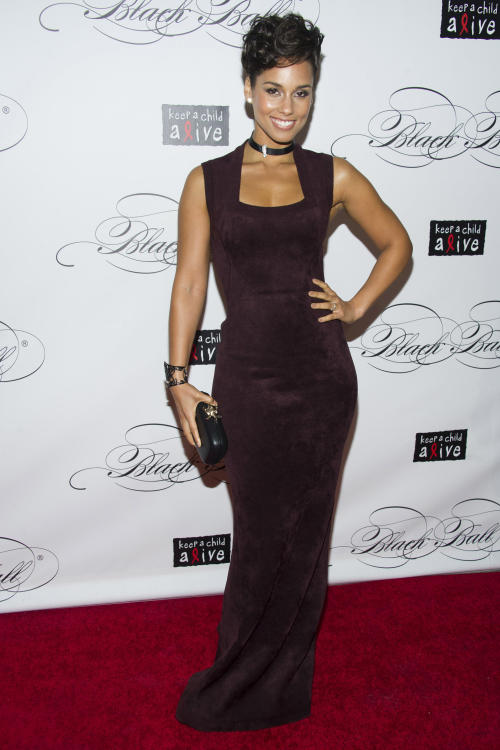 Alicia Keys attends Keep a Child Alive's ninth annual Black Ball on Thursday, Dec. 6, 2012 in New York. (Photo by Charles Sykes/Invision/AP)