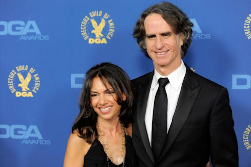 Susanna Hoffs, left, and Jay Roach arrive at the 65th Annual Directors Guild of America Awards at the Ray Dolby Ballroom on Saturday, Feb. 2, 2013, in Los Angeles. (Photo by Chris Pizzello/Invision/AP)