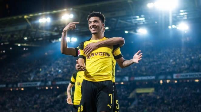 Penyerang sayap Borussia Dortmund, Jadon Sancho