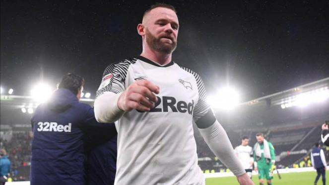 Penyerang Derby County, Wayne Rooney.