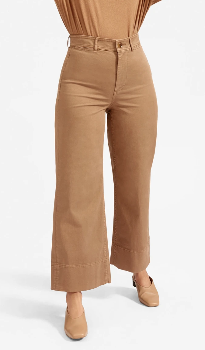The Lightweight Wide Leg Crop Chino by Everlane