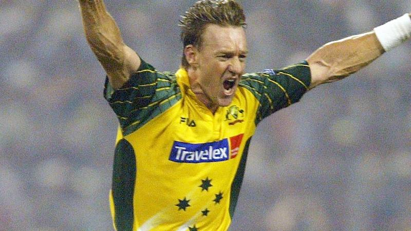 Andy Bichel, pictured here in a game for Australia in 2003. (Photo by Shaun Botterill/Getty Images)