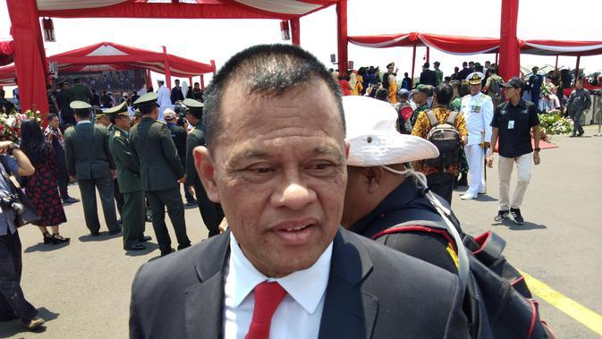 Mantan Panglima Jenderal Gatot Nurmantyo saat menghadiri HUT TNI Ke-7 di Taxy Way Echo Lanud Halim Perdanakusuma, Jakarta Timur, Sabtu 5 September 2019. (Foto: Liputan6.com/Ady Anugrahadi)