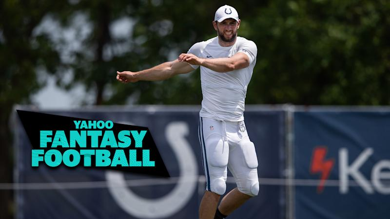 Liz Loza & Matt Harmon discuss the Andrew Luck injury situation on the latest Yahoo Fantasy Football Podcast. (Photo by Zach Bolinger/Icon Sportswire via Getty Images)