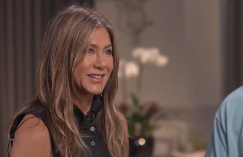 Jennifer Aniston answers Friends questions while promoting Netflix's Murder Mystery