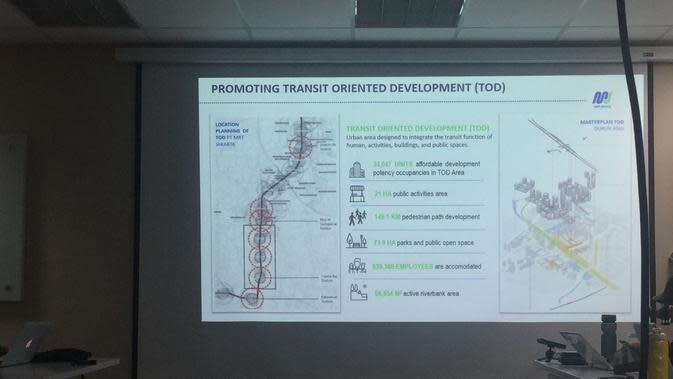 Rancangan Transit Oriented Development atau TOD dari PT MRT Jakarta. (Liputan6.com/Devira Prastiwi)