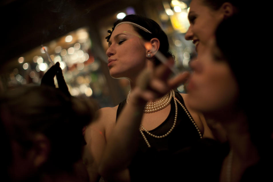 In this March. 8, 2012 photo, Russian-speaking Israelis dance to Russian pop beats at the Babylon nightclub in Tel Aviv. The club caters to the Russian-speaking immigrant community, featuring hired dancers and extravagant decorations rarely seen in informal Israel. (AP Photo/Oded Balilty)