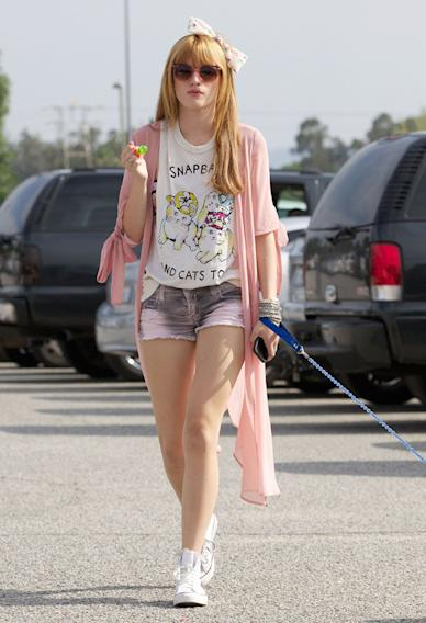 **EXCLUSIVE** Bella Thorne shows her support for boyfriend Tristan and his baseball team, as she and her pup Kingston go cheer him on in Los Angeles