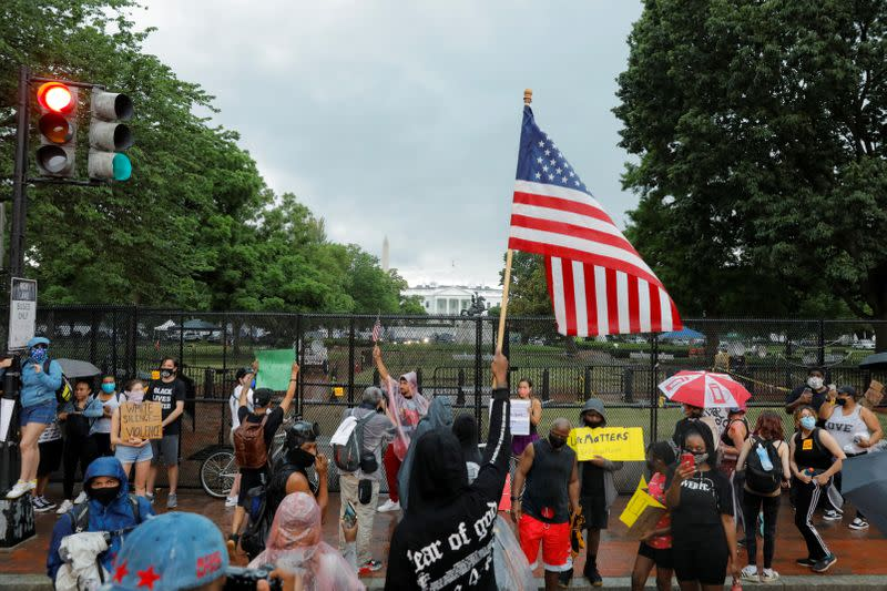 Protest against the death in Minneapolis police custody of George Floyd, in Washington