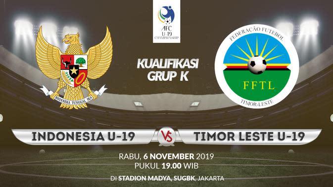 Kualifikasi Piala AFC U-19: Indonesia vs Timor Leste. (Bola.com/Dody Iryawan)