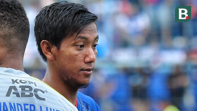 Bek kanan Arema FC, Syaiful Indra Cahya. (Bola.com/Iwan Setiawan)