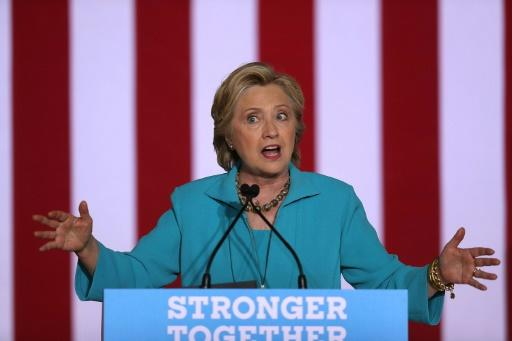 Hillary Clinton on the campaign trail in 2016: she says the leak of documents hacked from her campaign by Russian intelligence were a major factor in her defeat by now-President Donald Trump