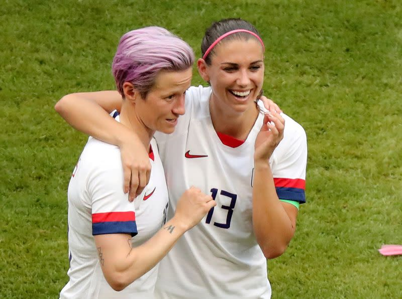 Morgan, Rapinoe vow to push forward after legal setback