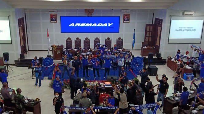 33 Tahun Arema, Yel-yel Bergema di Ruang Sidang DPRD Kota Malang