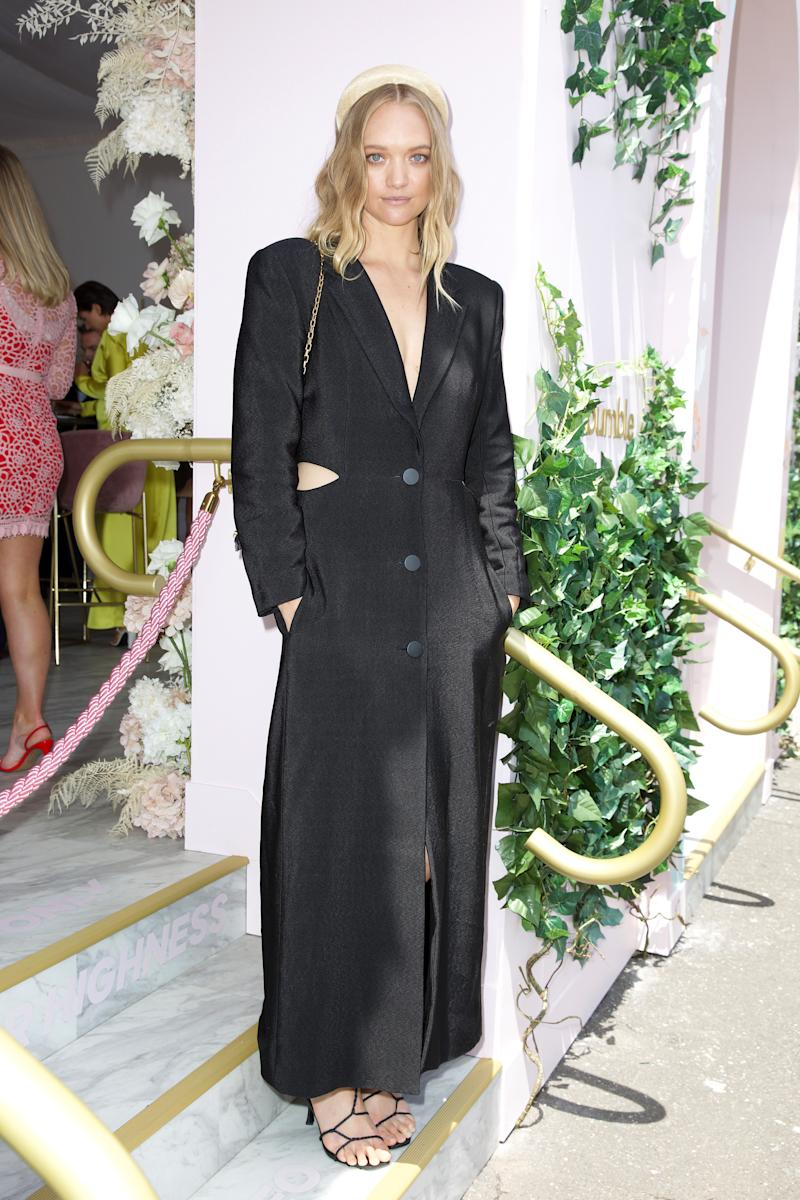 Gemma Ward attends the Bumble marquee on Melbourne Cup Day at Flemington Racecourse on November 05, 2019 in Melbourne, Australia.